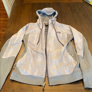 North Face medium weight jacket with hood
